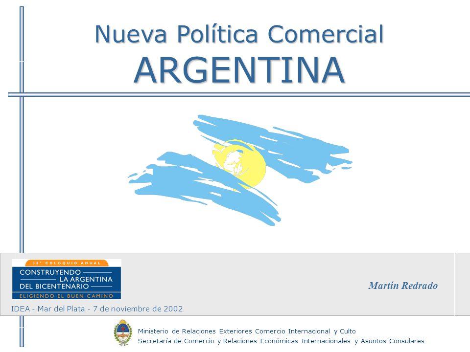 Nueva Política Comercial ARGENTINA