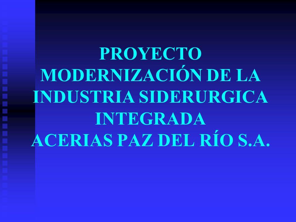 PROYECTO MODERNIZACIÓN DE LA INDUSTRIA SIDERURGICA INTEGRADA ACERIAS PAZ DEL RÍO S.A.