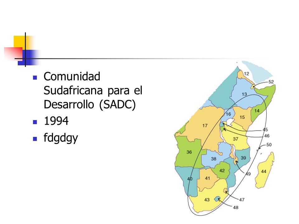 Comunidad Sudafricana para el Desarrollo (SADC)