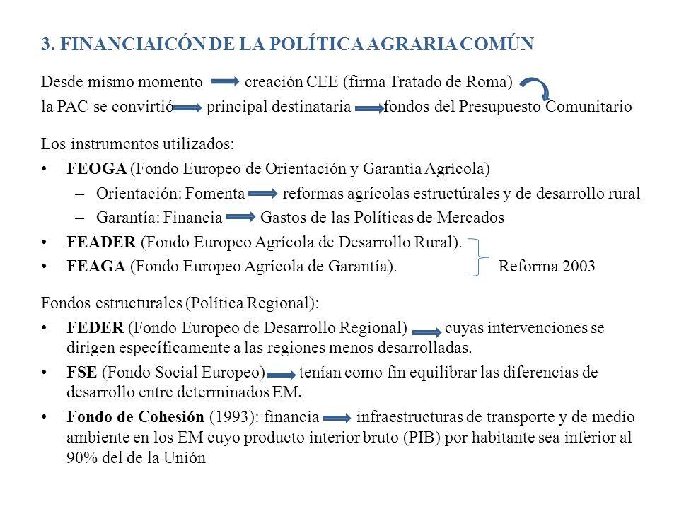 3. FINANCIAICÓN DE LA POLÍTICA AGRARIA COMÚN