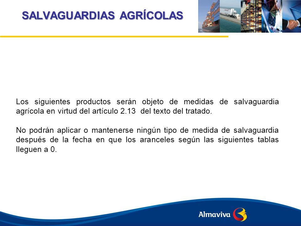 SALVAGUARDIAS AGRÍCOLAS