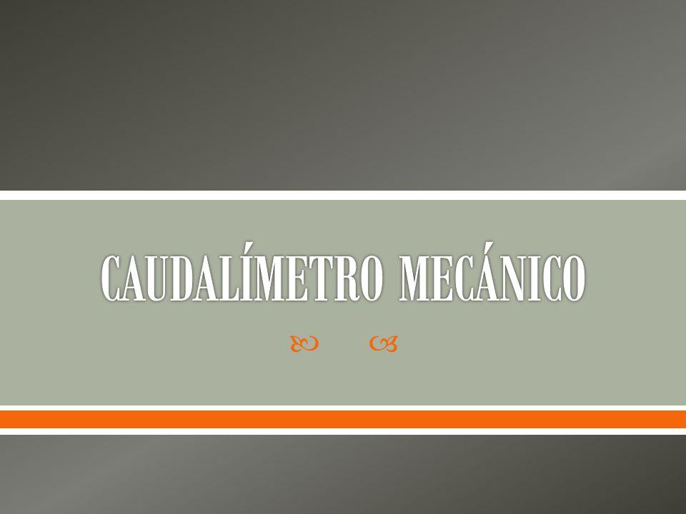 CAUDALÍMETRO MECÁNICO