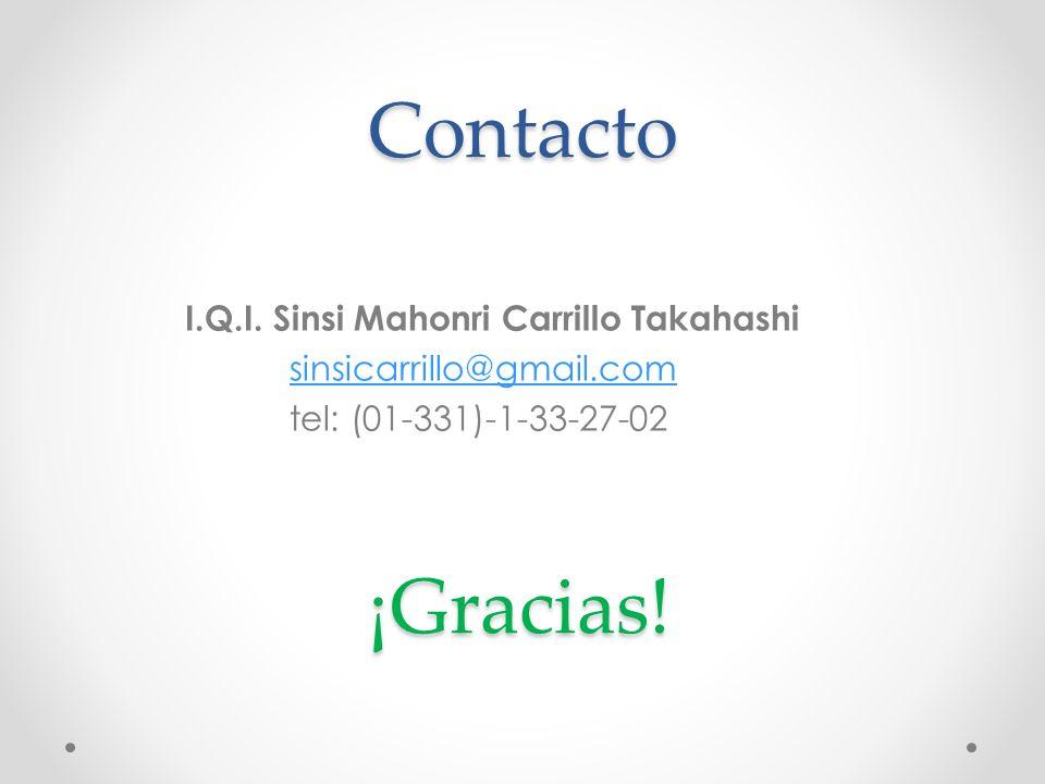 Contacto ¡Gracias! I.Q.I. Sinsi Mahonri Carrillo Takahashi