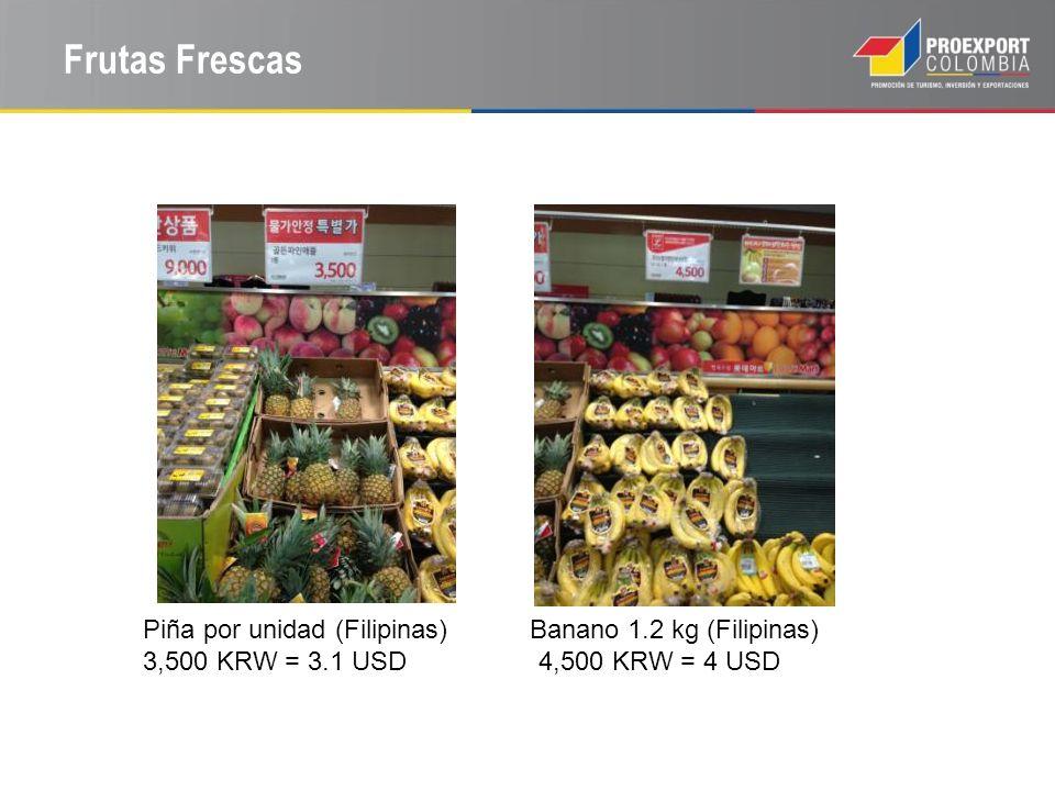 Frutas Frescas Piña por unidad (Filipinas) Banano 1.2 kg (Filipinas)