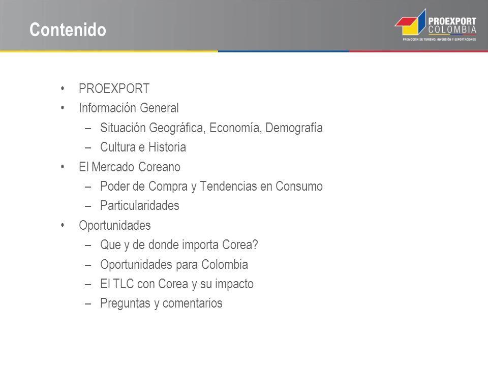 Contenido PROEXPORT Información General