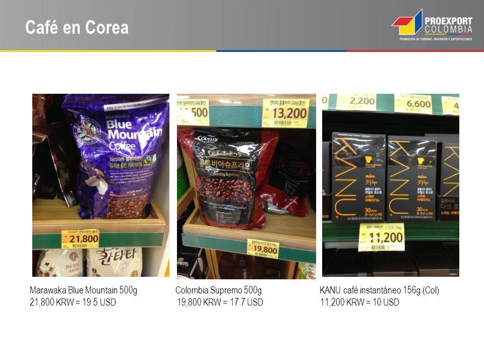 Café en Corea Marawaka Blue Mountain 500g Colombia Supremo 500g KANU café instantáneo 156g (Col)
