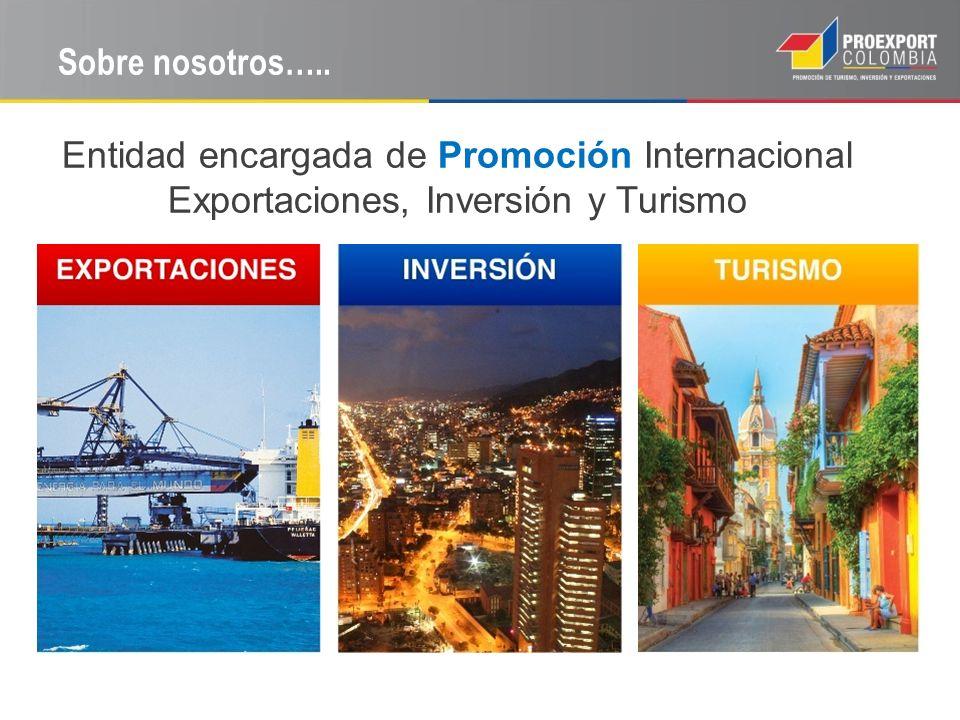 Sobre nosotros….. Entidad encargada de Promoción Internacional Exportaciones, Inversión y Turismo