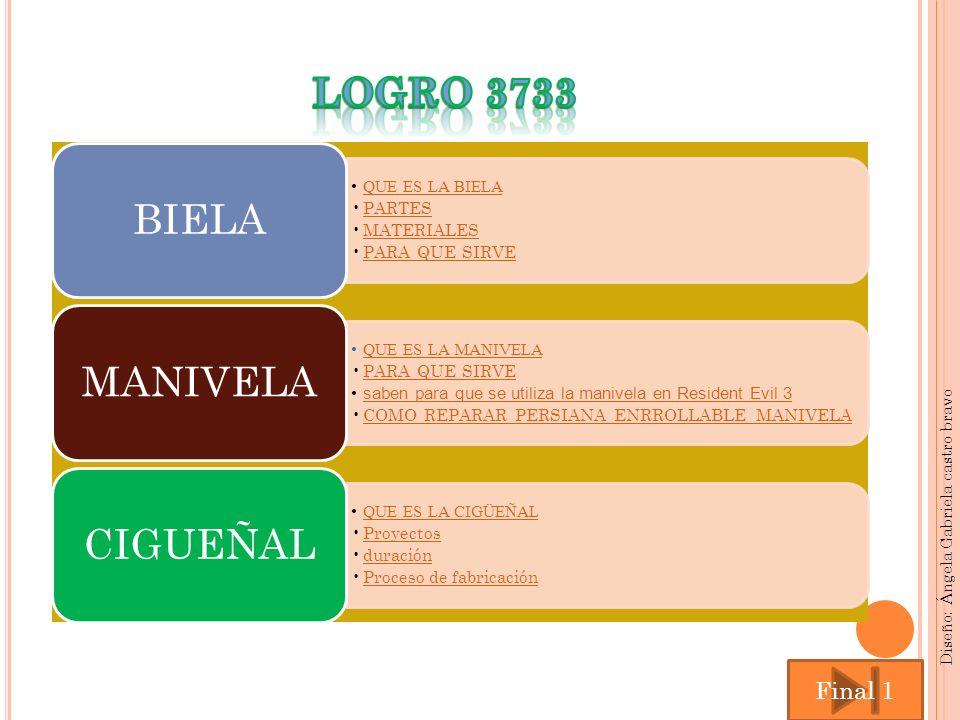 LOGRO 3733 Final 1 Diseño: Ángela Gabriela castro bravo BIELA