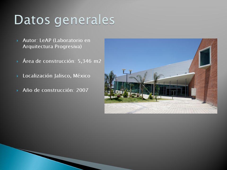 Datos generales Autor: LeAP (Laboratorio en Arquitectura Progresiva)