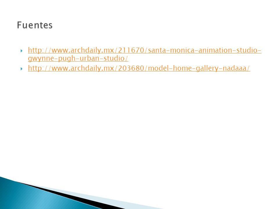 Fuentes http://www.archdaily.mx/211670/santa-monica-animation-studio- gwynne-pugh-urban-studio/