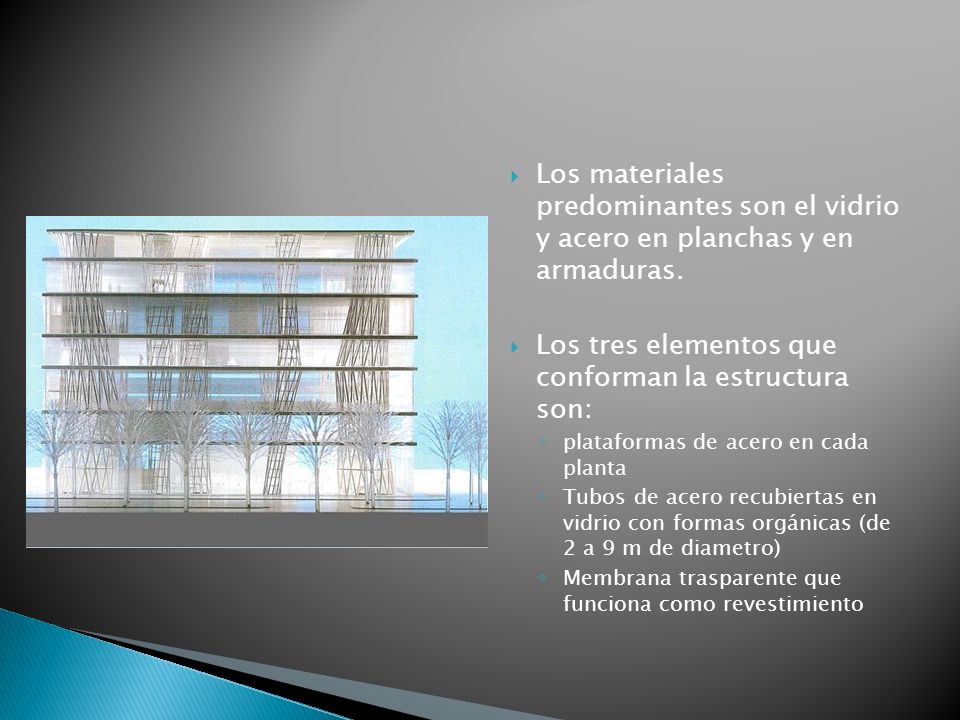 Los tres elementos que conforman la estructura son: