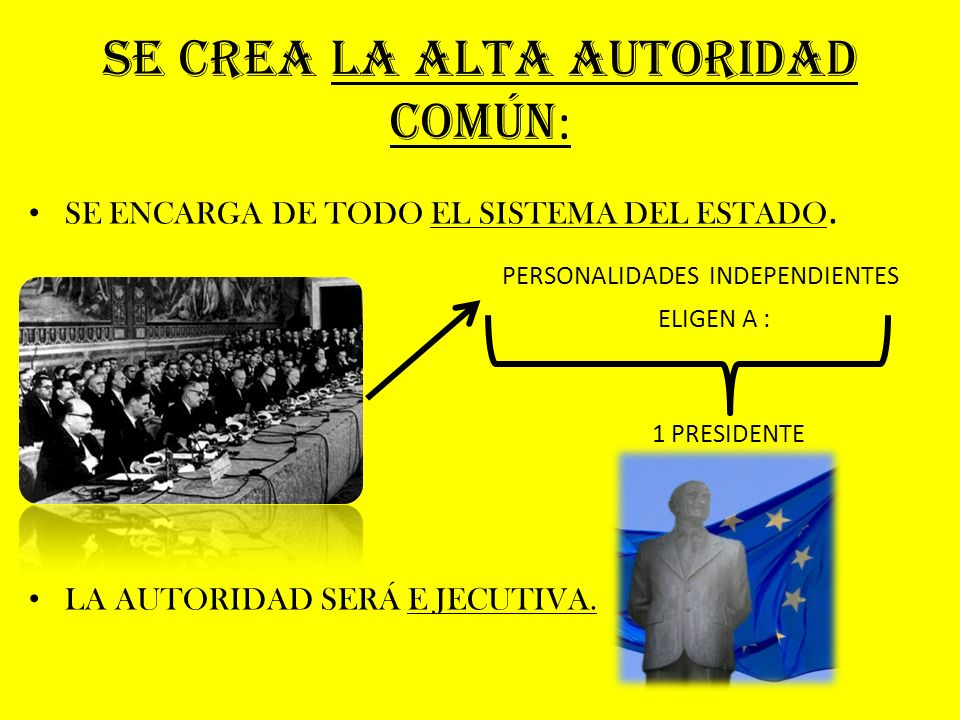 SE CREA LA ALTA AUTORIDAD COMÚN: