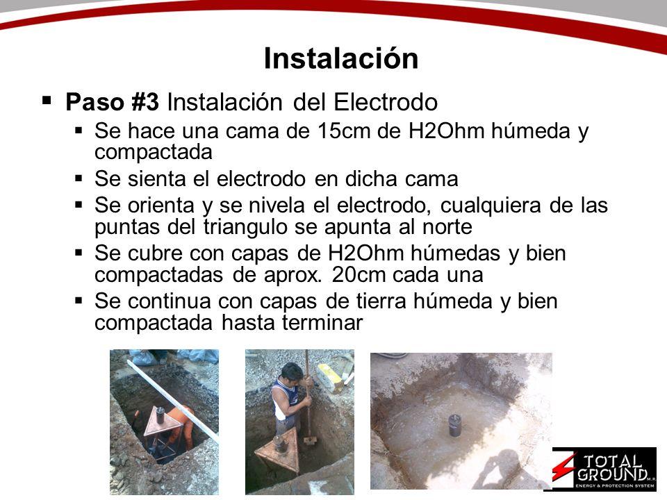 Instalación Paso #3 Instalación del Electrodo