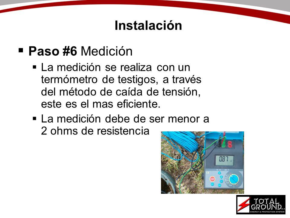 Instalación Paso #6 Medición