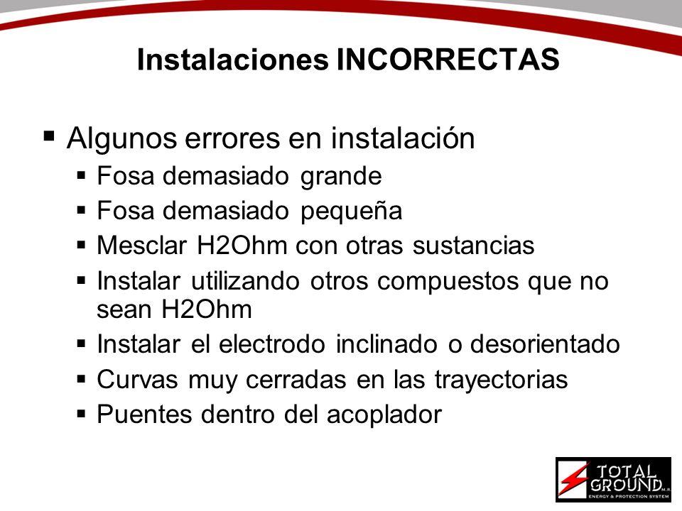 Instalaciones INCORRECTAS