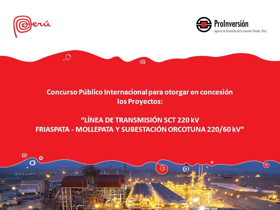 Concurso Público Internacional para otorgar en concesión