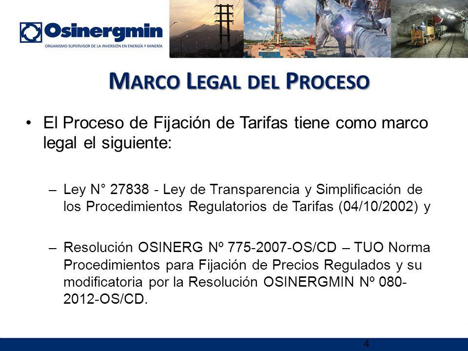 Marco Legal del Proceso