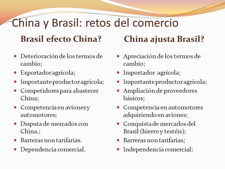 China y Brasil: retos del comercio