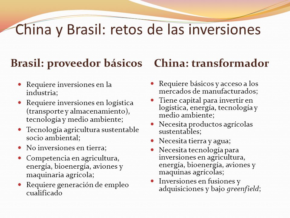 Brasil: proveedor básicos