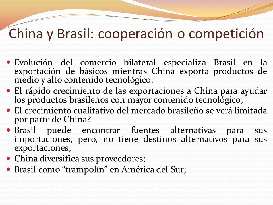 China y Brasil: cooperación o competición