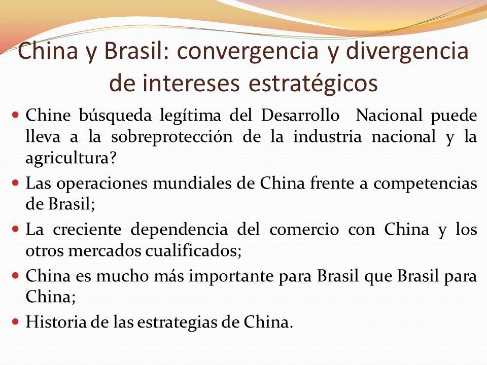 China y Brasil: convergencia y divergencia de intereses estratégicos