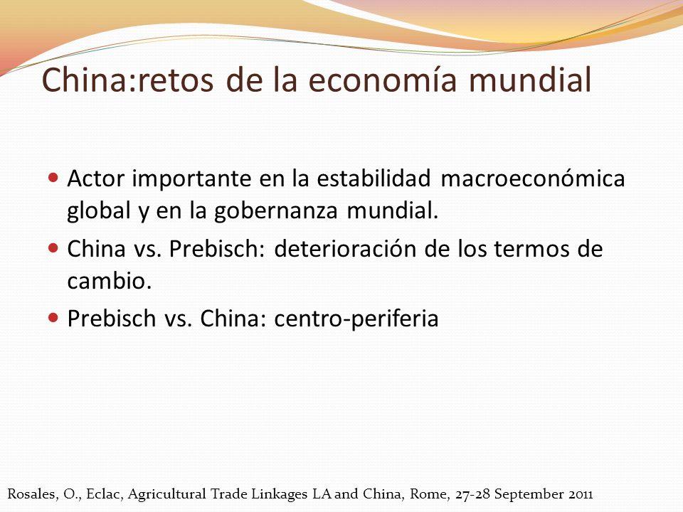 China:retos de la economía mundial
