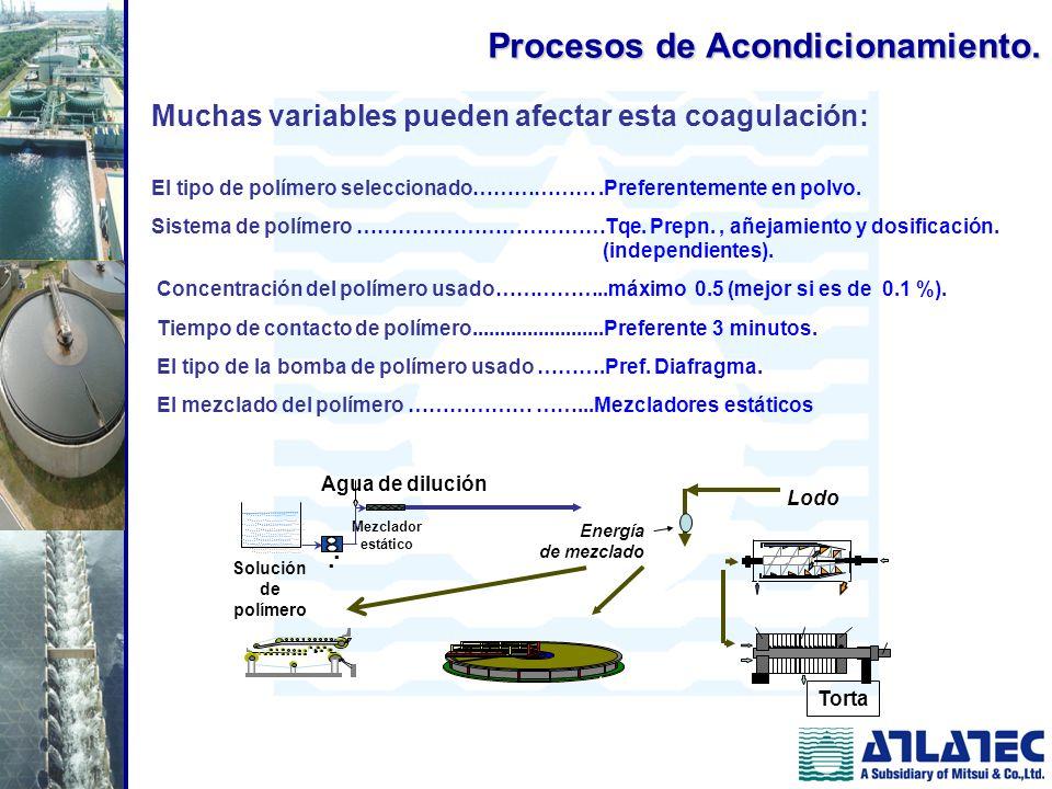 Procesos de Acondicionamiento.
