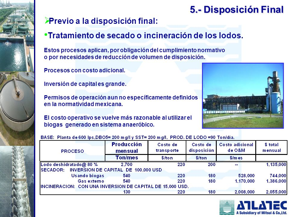 5.- Disposición Final Previo a la disposición final: