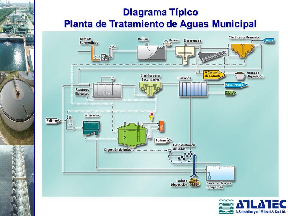 Diagrama Típico Planta de Tratamiento de Aguas Municipal