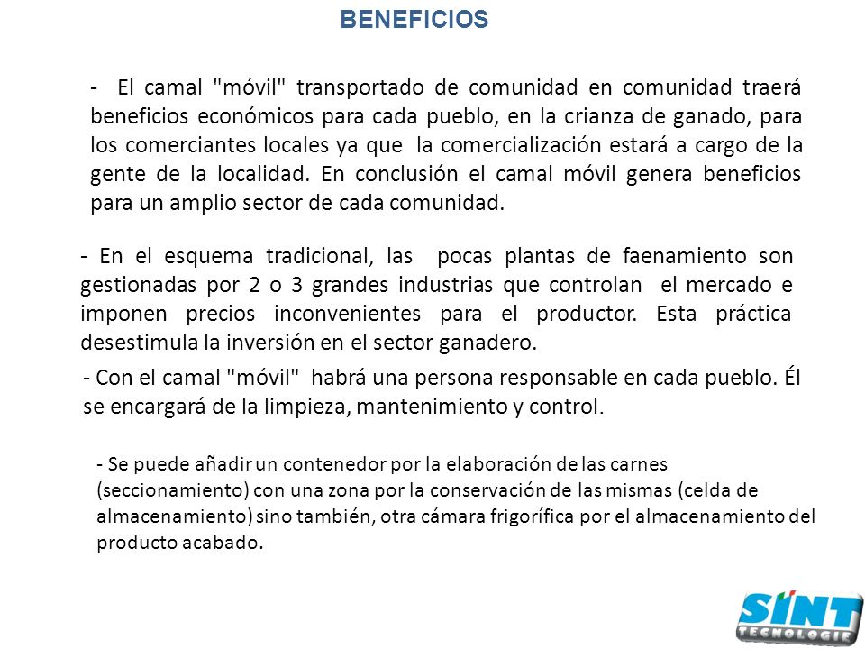 BENEFICIOS