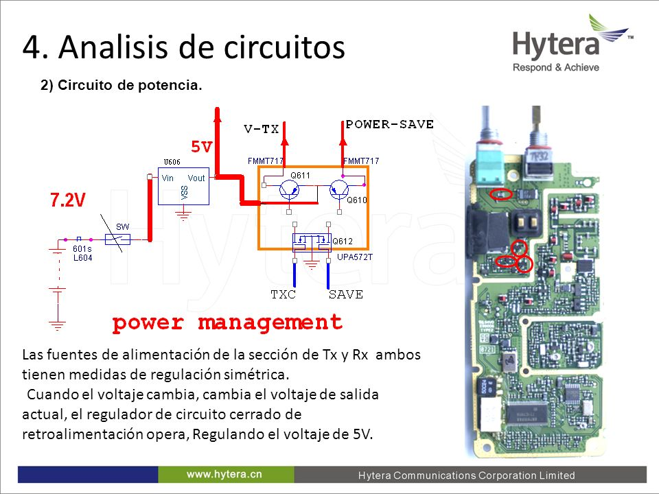 4. Analisis de circuitos 2) Circuito de potencia.