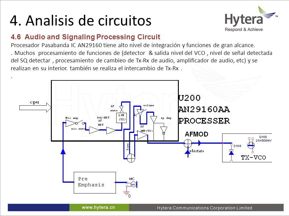 4. Analisis de circuitos 4.6 Audio and Signaling Processing Circuit