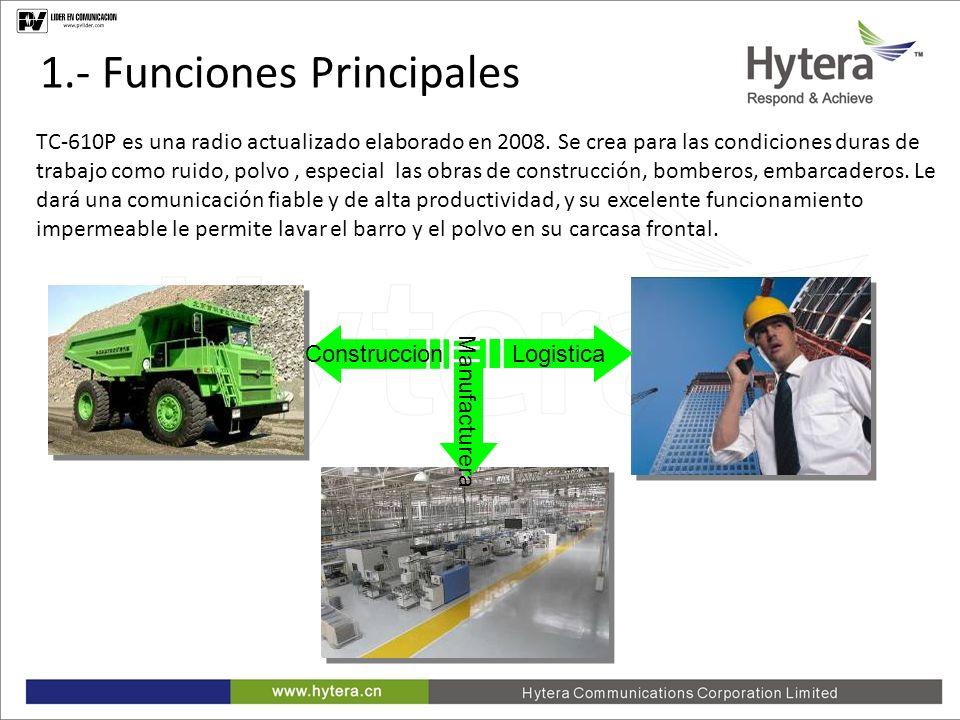 1.- Funciones Principales
