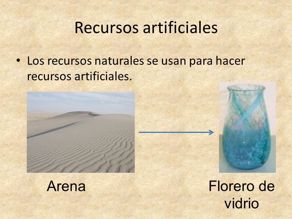 Recursos artificiales