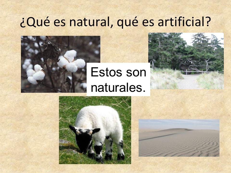 ¿Qué es natural, qué es artificial