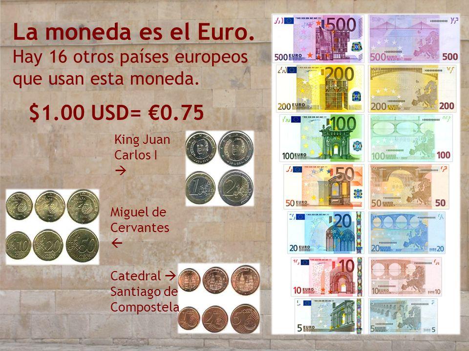 La moneda es el Euro. Hay 16 otros países europeos que usan esta moneda.