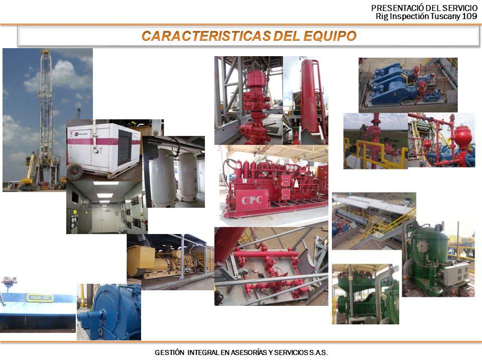 CARACTERISTICAS DEL EQUIPO