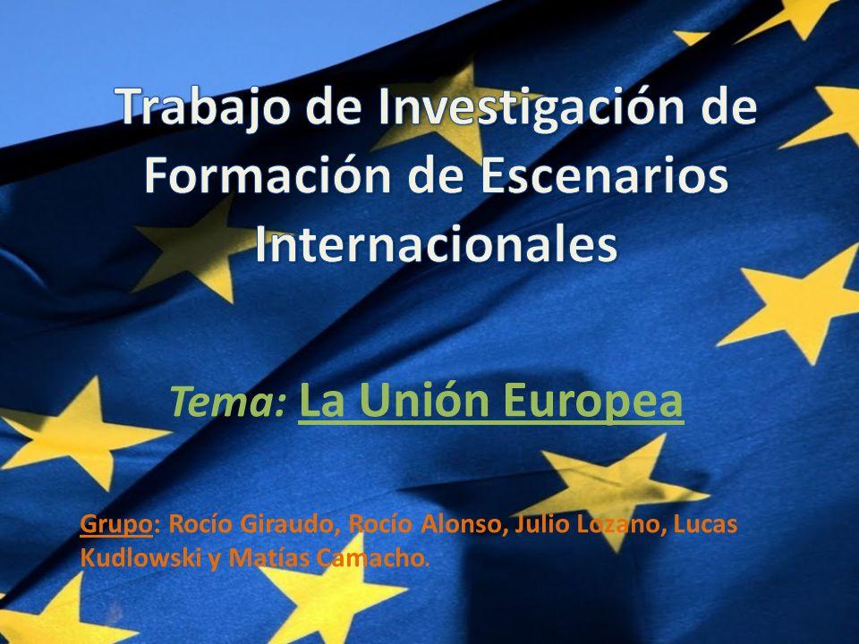 Trabajo de Investigación de Formación de Escenarios Internacionales