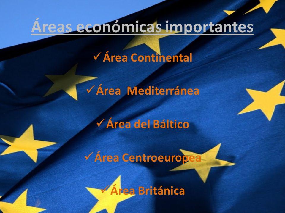 Áreas económicas importantes
