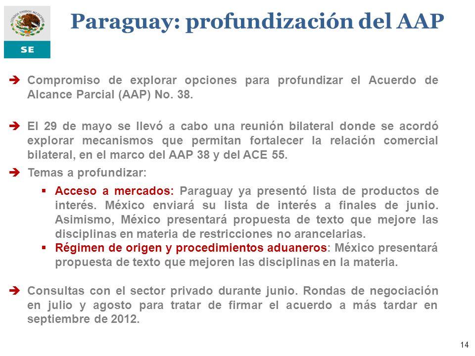Paraguay: profundización del AAP