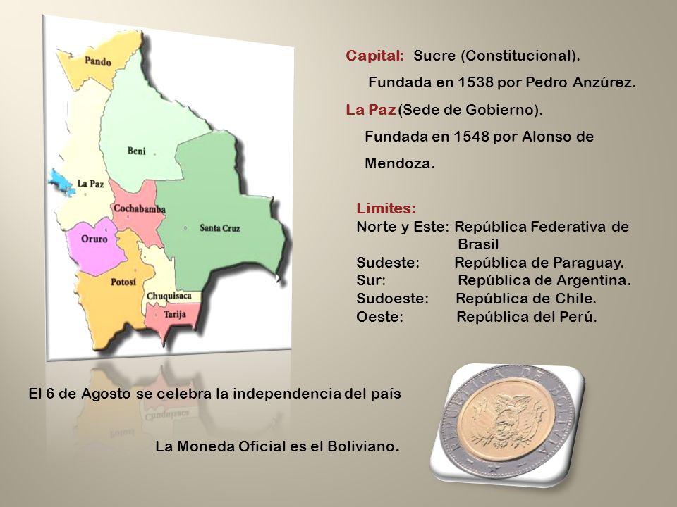 Capital: Sucre (Constitucional).