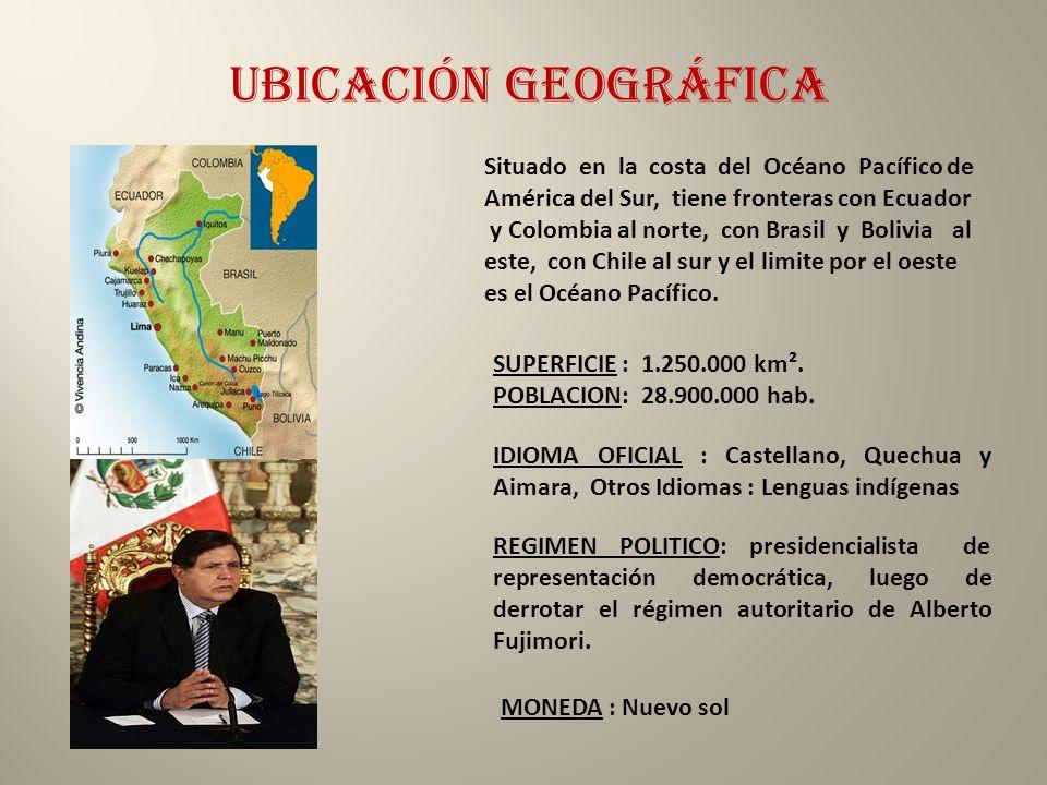 Ubicación geográfica Situado en la costa del Océano Pacífico de América del Sur, tiene fronteras con Ecuador.