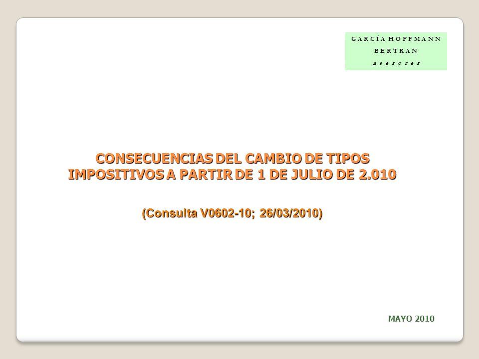 CONSECUENCIAS DEL CAMBIO DE TIPOS