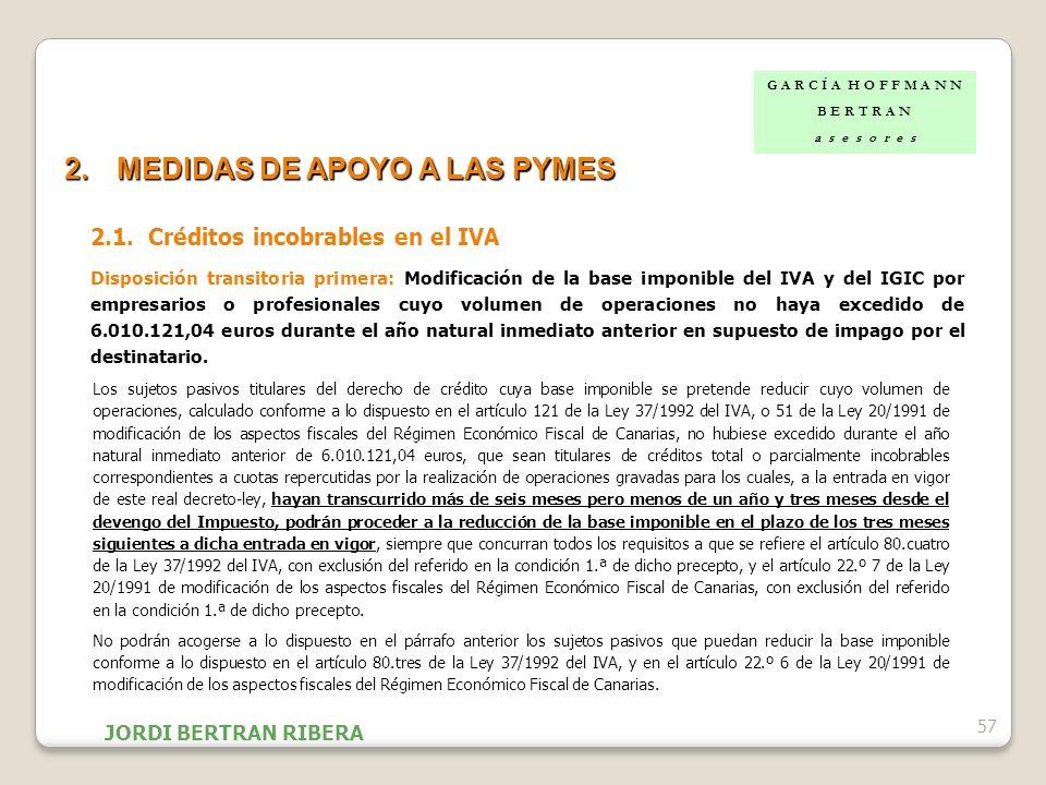 MEDIDAS DE APOYO A LAS PYMES