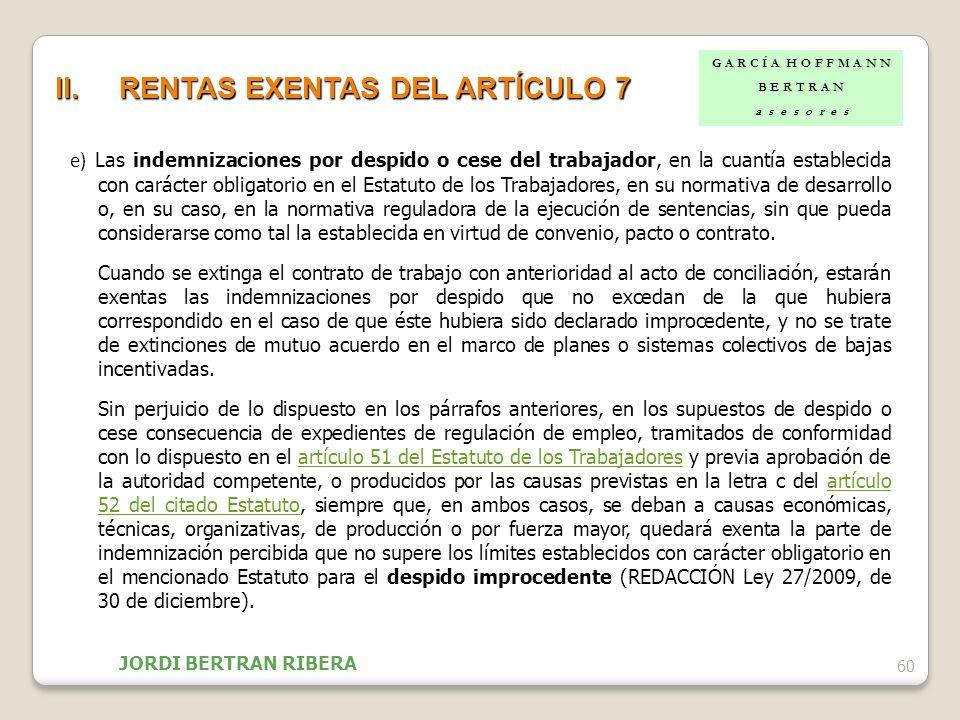 RENTAS EXENTAS DEL ARTÍCULO 7