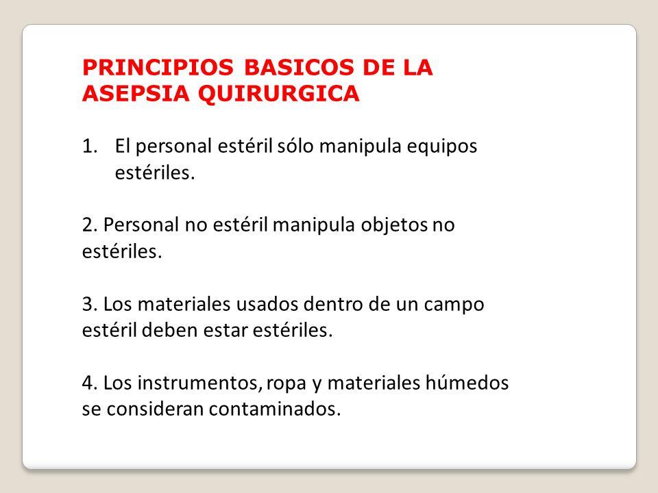 PRINCIPIOS BASICOS DE LA ASEPSIA QUIRURGICA