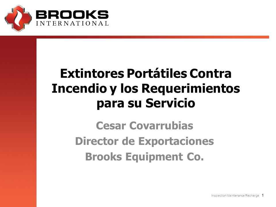 Cesar Covarrubias Director de Exportaciones Brooks Equipment Co.