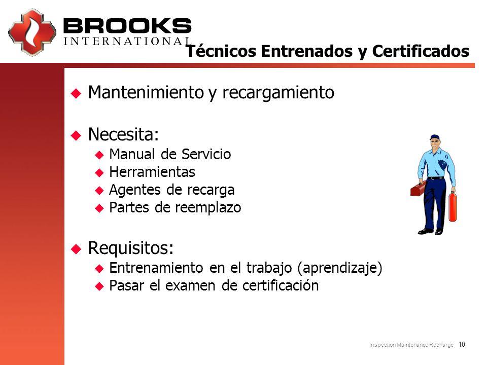 Técnicos Entrenados y Certificados