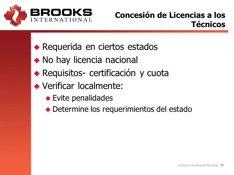 Concesión de Licencias a los Técnicos