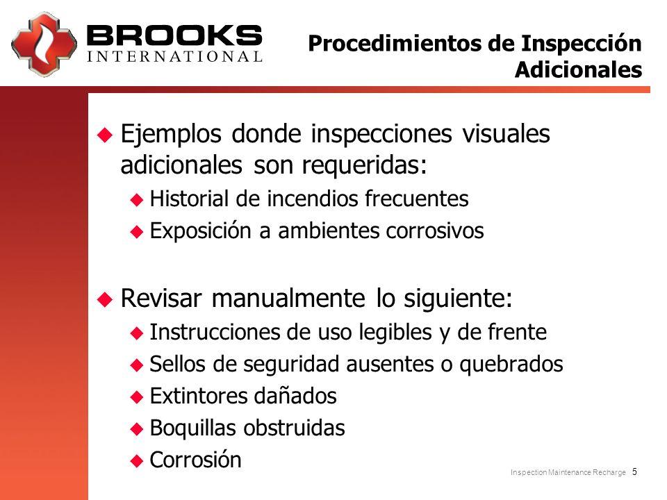 Procedimientos de Inspección Adicionales